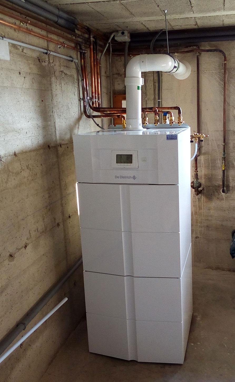 Chaudière gaz condensation Dedietrich-Twineo avec ballon emaillé de 100L à Fleurieux