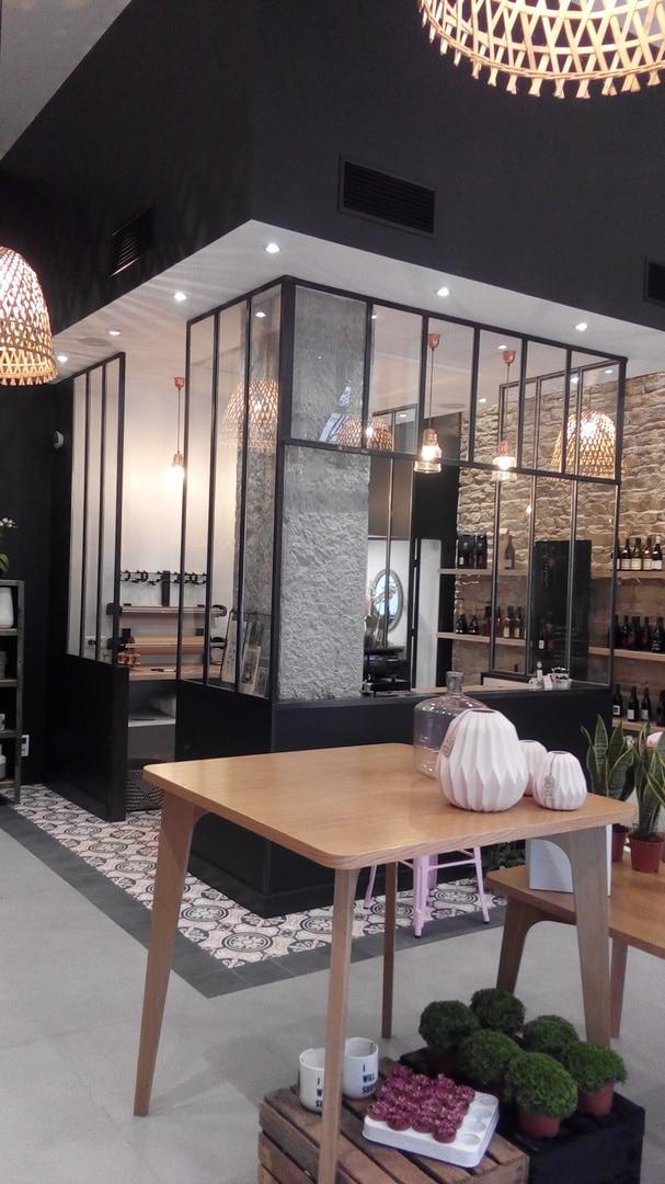 Climatisation de magasin par gaine intégrée Fleuriste Atelier Lavarenne 69006