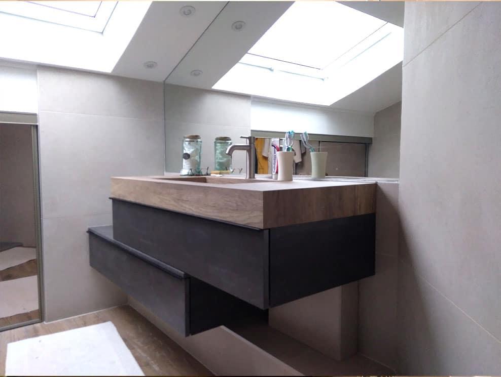 Meuble salle de bains design Lentilly 69210