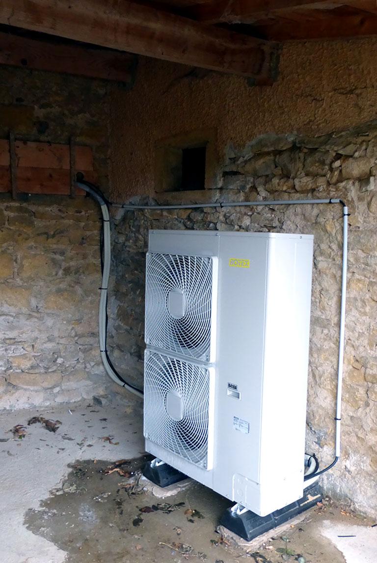 Pompe à chaleur haute température unité extérieure SAINT-GERMAIN-NUELLES 69210