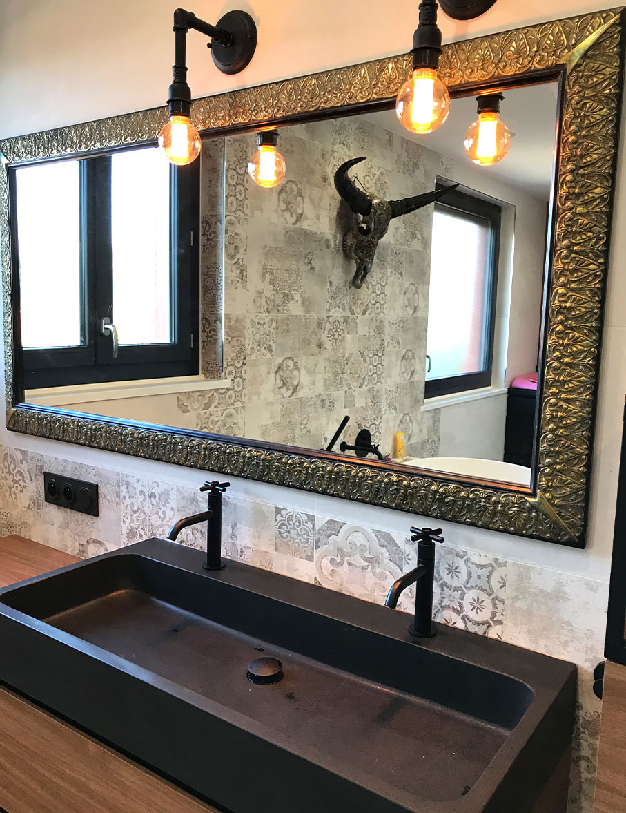 Réalisation salle de bains moderne